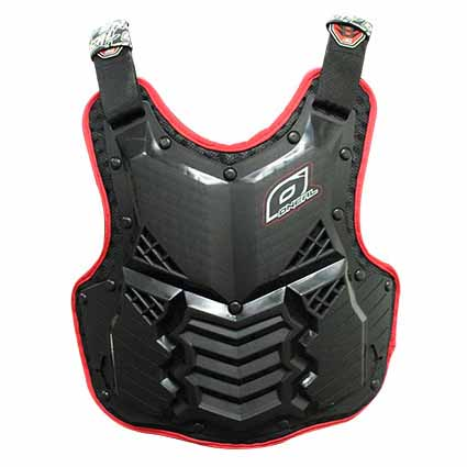 Oneal Hole Shot Adult Body Armour Black Red Adult Body