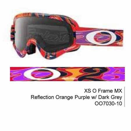 da77a3d5691 Oakley xs o frame tld reflection orange purple mx goggles with dark grey  lens