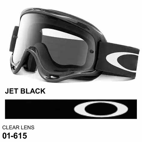 Oakley o frame jet black mx goggles with clear lens d8f4d93539c